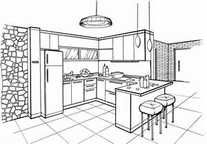 kitchen in minimalist style coloring page free printable With kitchen colors with white cabinets with free happy birthday stickers