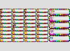 Estupendas etiquetas coloridas de piratas, emojis, bebés y
