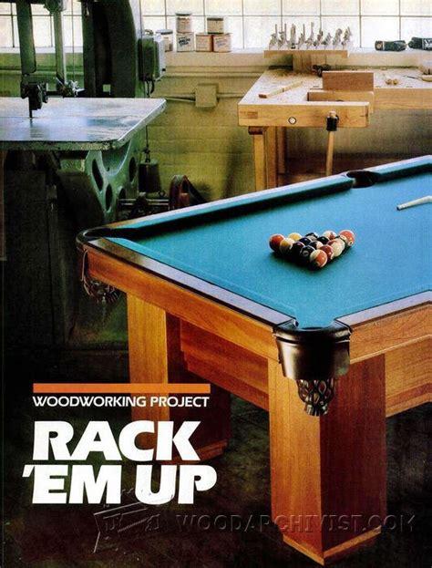 pool table design plans pool table plans woodarchivist
