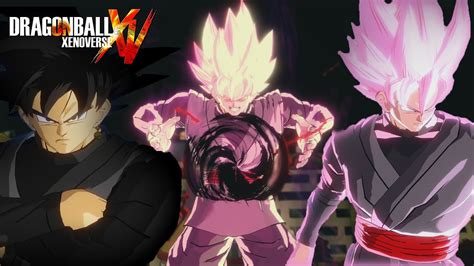 dragon ball xenoverse pc super saiyan rose black goku