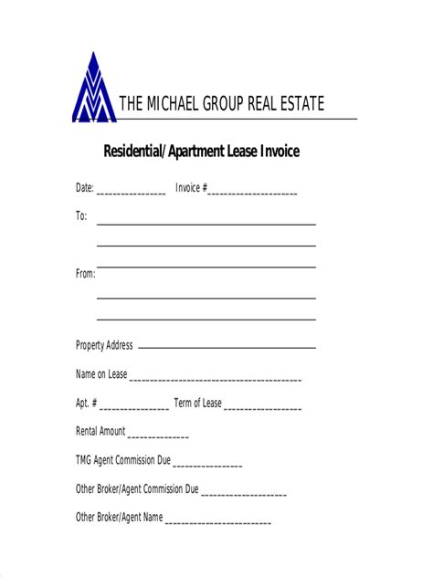 lease receipt examples samples   examples
