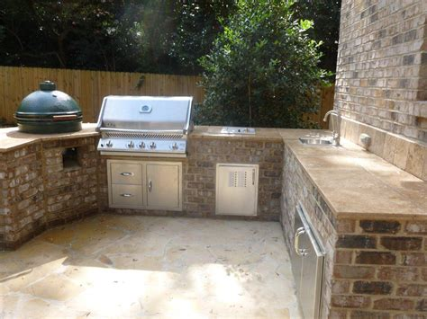 outdoor grill with sink outdoor tile countertops grill travertine counter