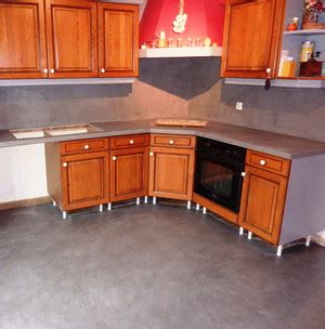 beton cire plan de travail cuisine sur carrelage b 233 ton cir 233 cuisine sur ancien carrelage
