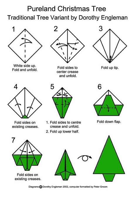 step by step christmas tree oragami wiki with pics tree happy holidays origami origami and