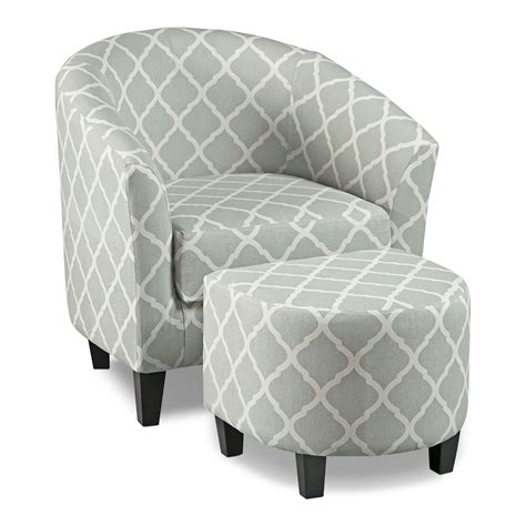 occasional chair and ottoman sperrie accent chair and ottoman gray american