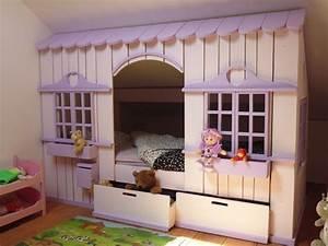 Lit Cabane Pour Enfant : lit cabane en bois sur mesure pour enfant abra ma cabane ~ Teatrodelosmanantiales.com Idées de Décoration