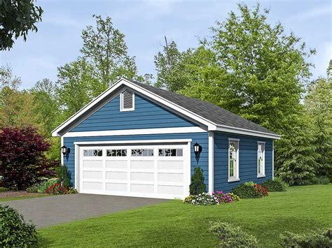 2car Detached Garage Plan With Oversized Garage Door