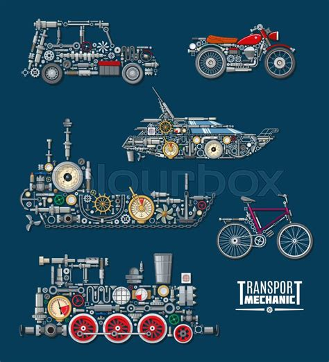 Boat Mechanic License by Transport Mechanics And Vehicles Mechanisms Vector