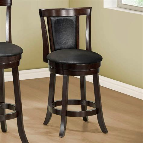 Black Looking Stool by Humility Counter Stool Cappuccino Black Leather Look