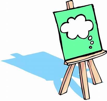 Easel Clipart Clip Artist Painting Cliparts Cartoon