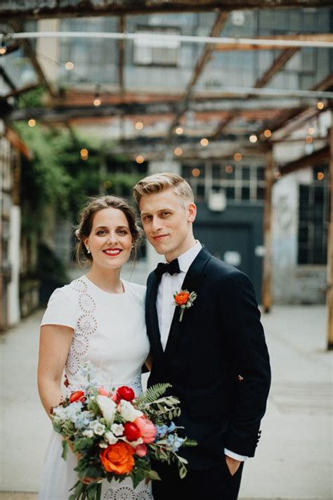 classy butterfly inspired wedding   industrial