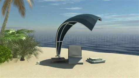 wave  exclusive shade structure design   sail shaped palm thatched  canvas roof