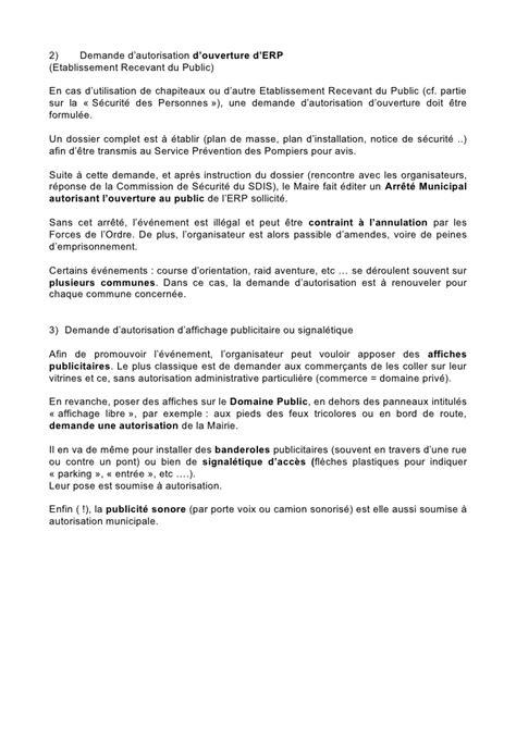 modele lettre demande d emplacement commerce ambulant lettre demande autorisation mairie