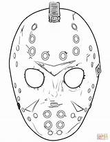 Jason Coloring Mask Friday 13th Printable Halloween Tattoo Masks Drawings Scary Face Sheets Supercoloring Horror Template Drawing Colouring Printables Badass sketch template