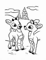 Coloring Rudolph Printable sketch template