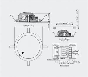 toa pc 2852 loudspeaker circular ceiling 15 15w taps With wiring home speakers ceiling