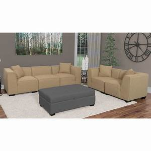 corliving lida beige fabric 5 piece sectional sofa and With 5 piece sectional sofa canada