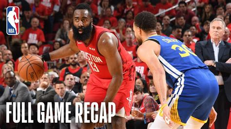WARRIORS vs ROCKETS   Houston Holds Serve   Game 4 - TH-Clip