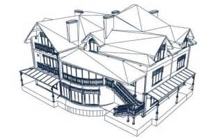 3D House Design Sketches