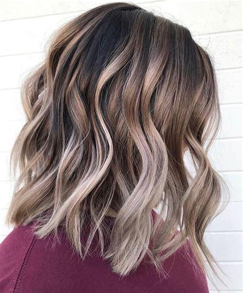 medium hair color ideas shoulder length hairstyle