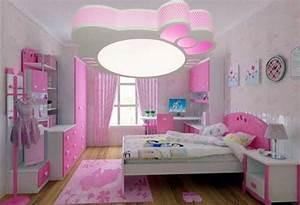 plafonnier chambre fille installation avec idee papier With chambre a coucher avec papier peint