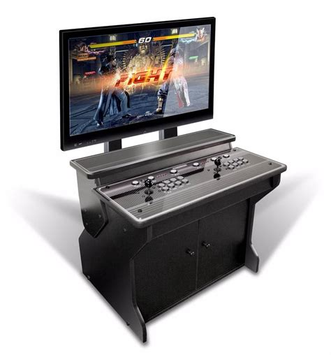 Xtension Arcade Cabinet by Xtension Sit Pedestal Arcade Cabinet For Fight Sticks