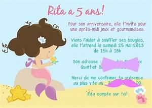 Invitation Anniversaire Fille 9 Ans : 9 excellent invitation anniversaire fille 5 ans ~ Melissatoandfro.com Idées de Décoration