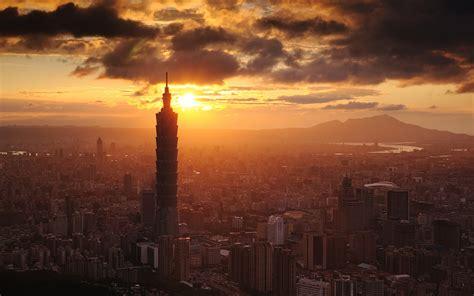 Sunset In Taiwan  Taipei  Desktop Wallpaper
