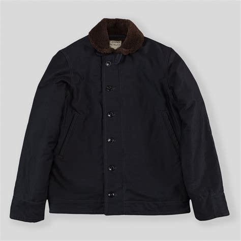 N1 Deck Jacket History by The Real Mccoy S N 1 Deck Jacket Navy Plain Mj14109