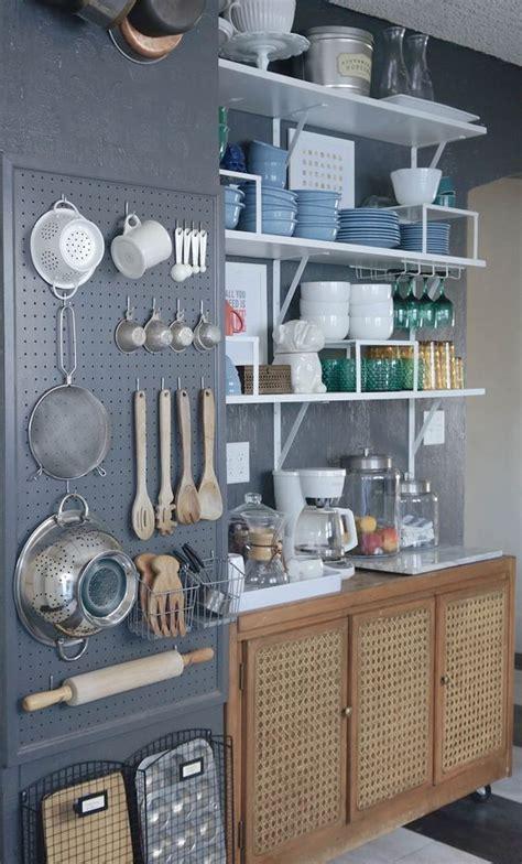 kitchen wall storage ideas picture of pegboard kitchen wall organizer