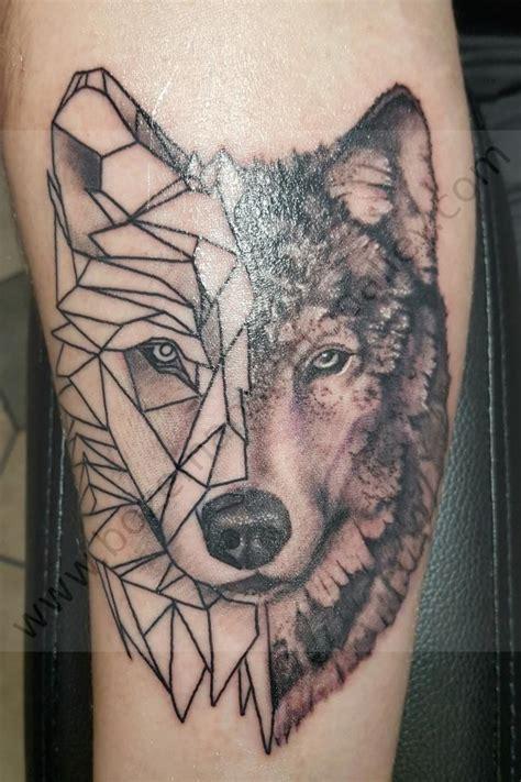 Geometric Wolf - Bozeman's Tattoo Alley, L.L.C. Pictures ...