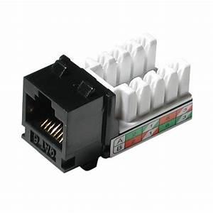 Fiche Rj45 Cat 6 : cables to go cat6 rj45 utp keystone jacks ~ Dailycaller-alerts.com Idées de Décoration