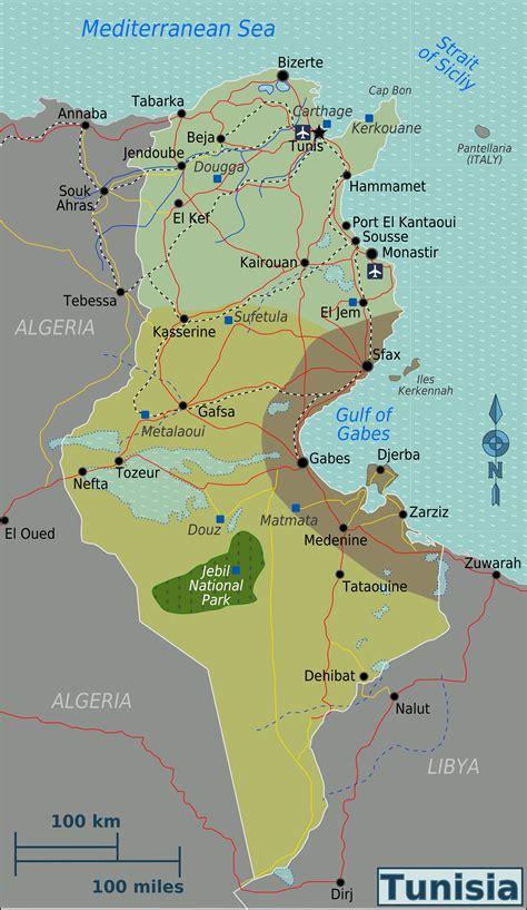 Filetunisia Regions Mappng  Wikimedia Commons