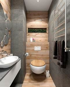 Minimalist, Bathroom, Designs, Looks, So, Trendy, With, Backsplash, And, Wooden, Accent, Decoration