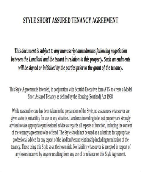 sample short term rental agreement templates