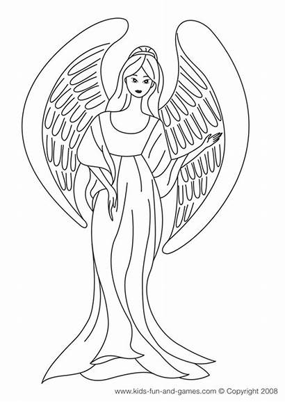 Angel Coloring Pages Printable Sheets Angels Adult