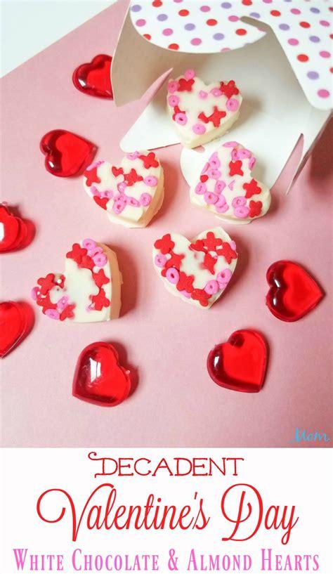 Decadent Valentine's Day White Chocolate & Almond Hearts