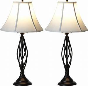 metal table lamp and shade set contemporary 2 pack black With table lamp 2 pack with shades