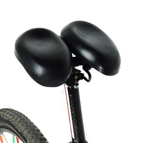 bike noseless saddle bicycle saddles padded adjustable seat function dual pad nose cycling cushion ergonomical short multi comfortable hornless pu