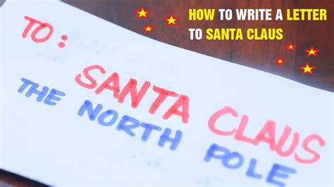write a letter to santa how to write a letter to santa claus 9593