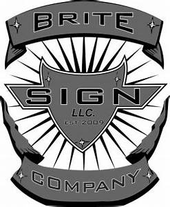 Brite sign company llc brite sign company llc family for Kitchen cabinets lowes with halos state stickers
