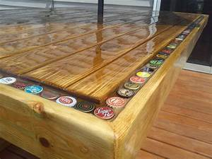 Bottle Cap Patio Table Things I've made Pinterest