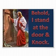 Behold, I stand at the door & knock Poster | Zazzle