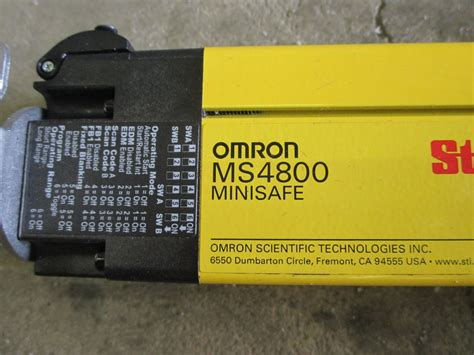 omron sti reciever light curtains msf4800s 30 1200 r
