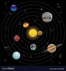 Planets And Sun From Our Solar System Royalty Free Vector
