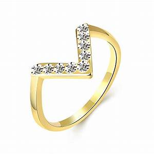 mlove personalized fashion jewelry womens 18k gold inlaid With letter rings jewelry