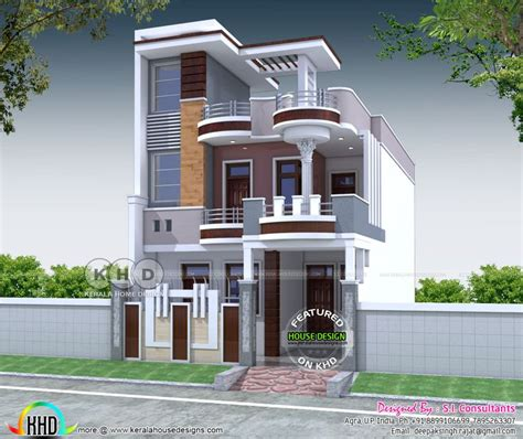 bhk  sq ft contemporary style north indian home  storey house design bungalow house