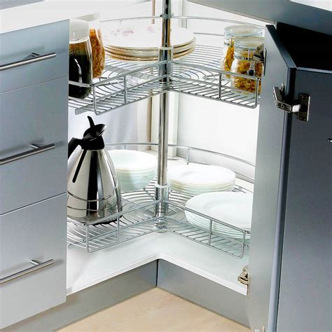 Stainless Steel Lazy Susan For Corner Cabinet Storage