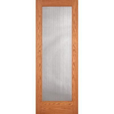 oak interior doors home depot feather river doors 36 in x 80 in reed woodgrain 1 lite unfinished oak interior door slab