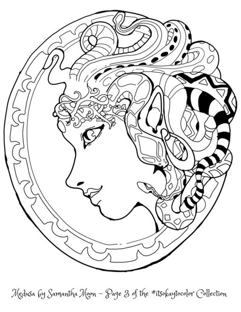 medusa coloring pages medusa coloring page by samanthamoon on deviantart